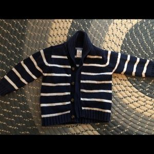 Gap Navy white stripe cardigan